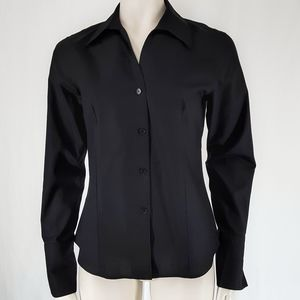 Calvin Klein   Black No Iron Button Down Shirt